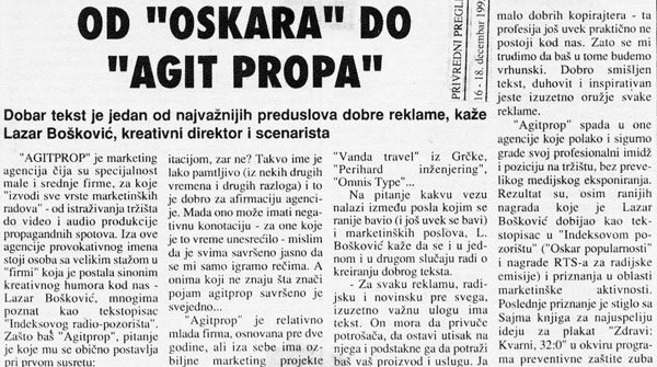 "Od ""Oskara"" do ""Agitpropa"""
