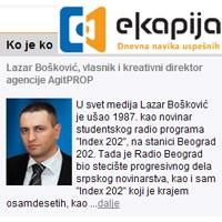 "Rubrika ""Ko je ko"": Lazar Bošković"