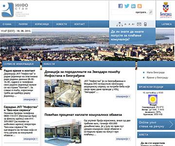 Internet sajt www.infostan.rs