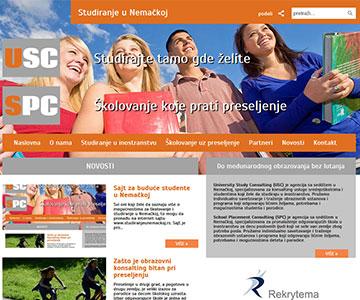 Internet sajt www.studiranjeunemackoj.rs