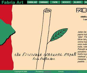 Internet sajt www.fabriaart.co.yu