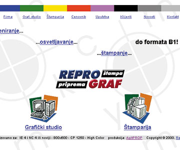 Internet sajt www.reprograf.co.yu